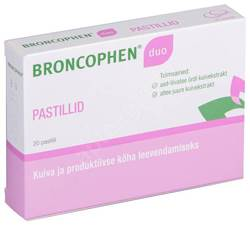 BRONCOPHEN DUO PASTILL 51.1MG+4.5MG N20
