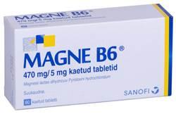 MAGNE B6 KAETUD TBL 5MG+470MG N60