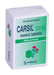 CARSIL KAETUD TBL 22.5MG N80