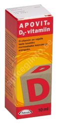 APOVIT D-VITAMIIN TILGAD 400TÜ/5TILGAS 10ML