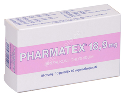PHARMATEX VAGIN.SUP. 18.9MG N10