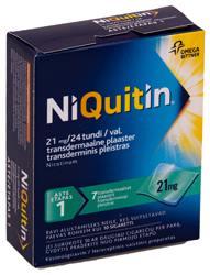 NIQUITIN TRANSDERM. PLAASTER 21MG 24H N7