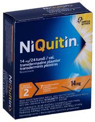 NIQUITIN TRANSDERM. PLAASTER 14MG 24H N7