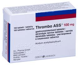 THROMBO ASS GASTRO. TBL 100MG N100