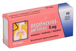 BROMHEXINE-GRINDEKS TBL 8MG N50