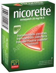 NICORETTE INVISIPATCH TRANSDERM. PLAASTER 25MG 16H N7