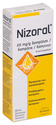 NIZORAL ŠAMPOON 20MG 1G 60ML N1