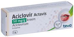 ACICLOVIR ACTAVIS KREEM 50MG 1G 5G N1