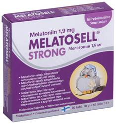 MELATOSELL STRONG UNETABLETID 1,9MG N60